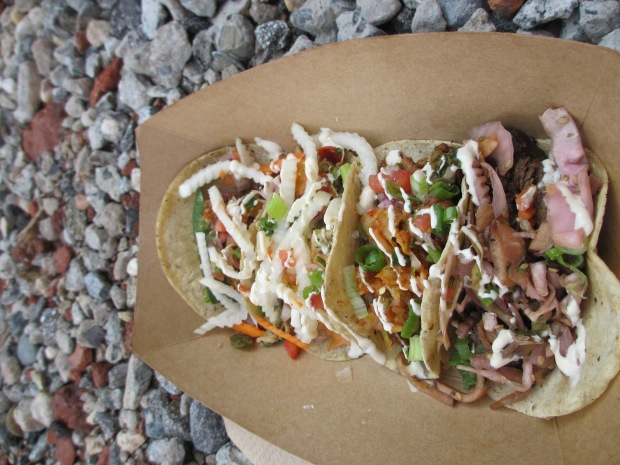 Mixed tacos from Kimchi Grill...Yum!