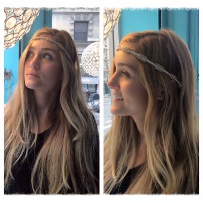 Liz with rose gold hippy hairband